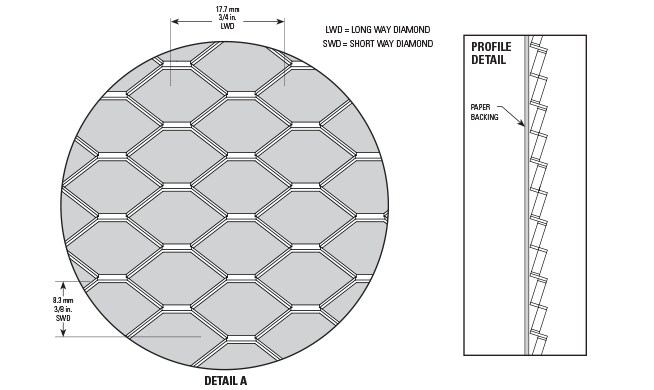 """Diamond Metal Lath (Expanded) with """"D"""" Paper"""