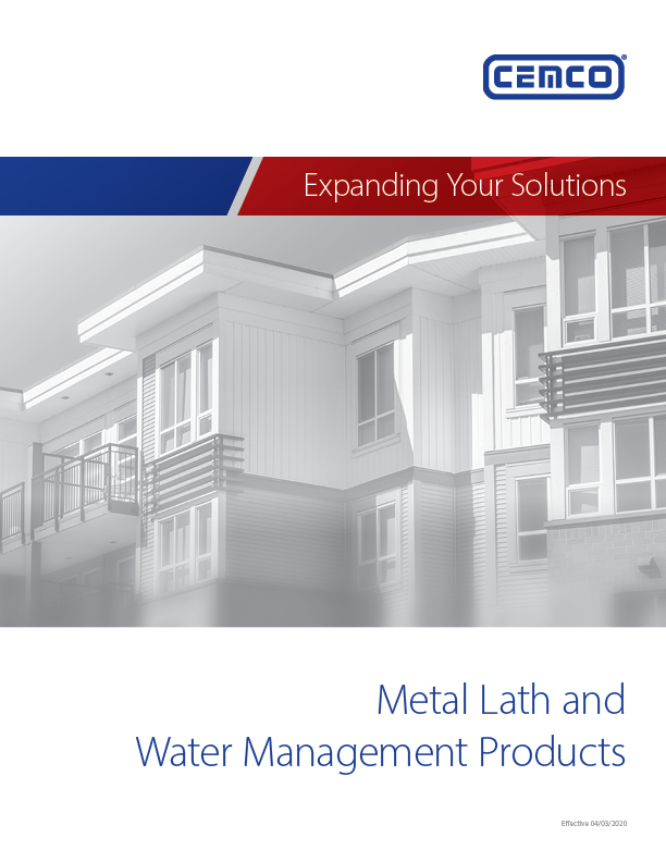 Metal Lath Water Management Catalog Cover