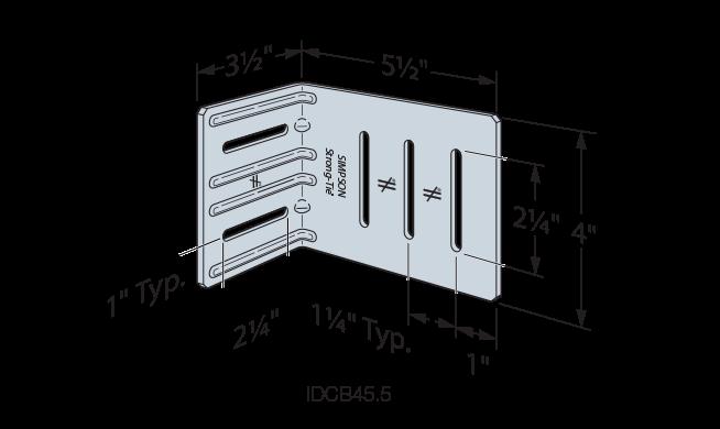 Drift-Clip Bypass Framing Connector