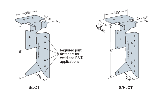 S/JCT and S/HJCT Steel Joist Connectors
