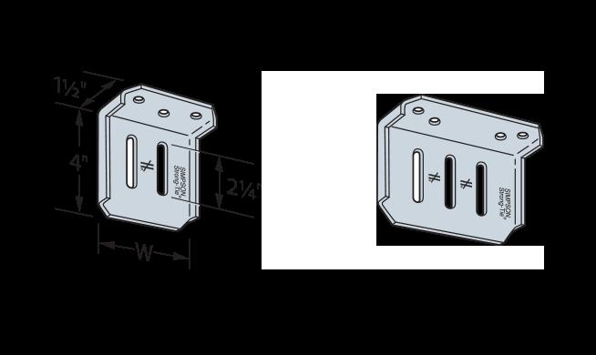 Simpson SCW HOW Slide Clip Connectors Graphic