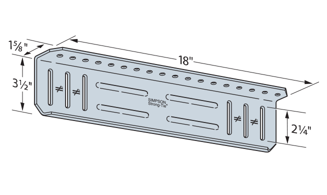 SSB Bypass Framing Slide-Clip Strut Connector