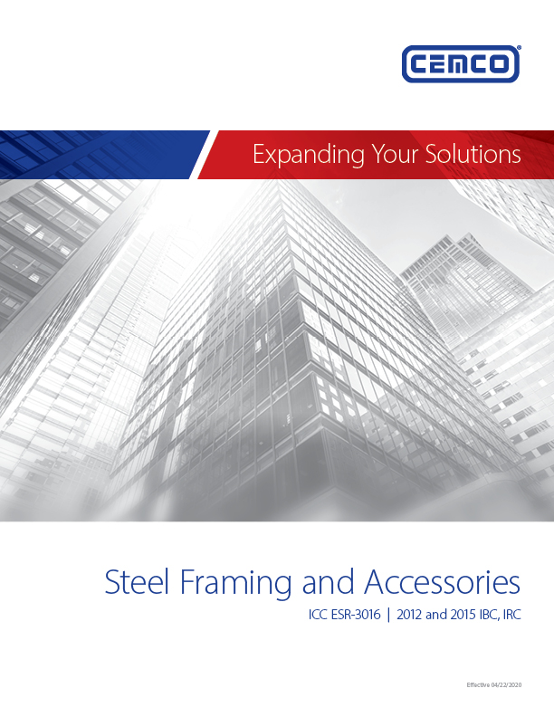 Steel Framing Catalog Cover 1