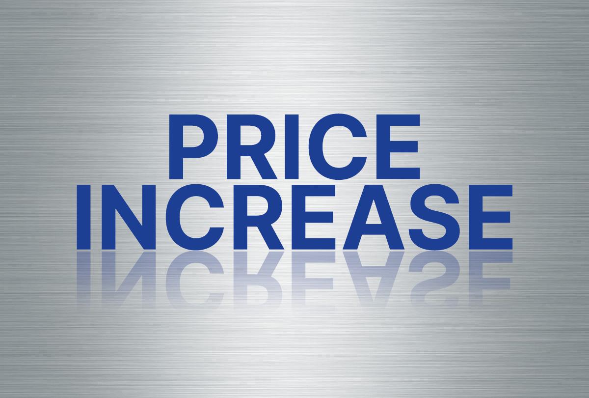 Price Increase 1200x810
