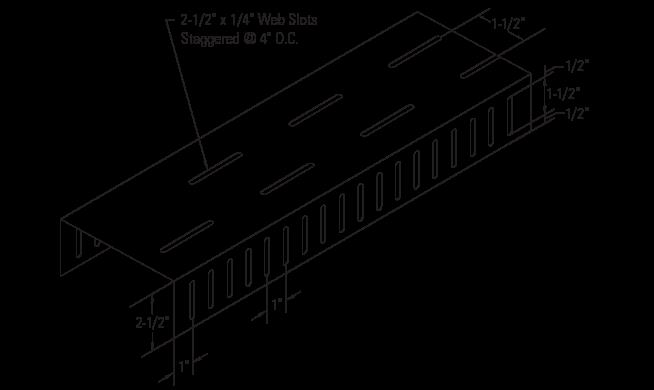 CST Slotted Track Standard Leg 2-1/2″ Drift Slots
