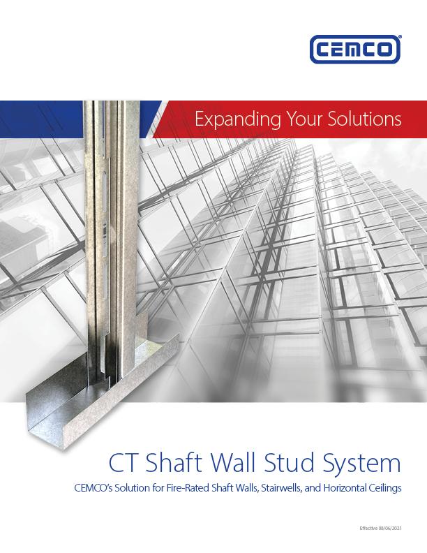 CT Shaft Wall Stud Catalog Cover